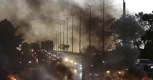 Protests against president disrupt Brazil's major cities