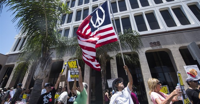 California marchers call for impeachment of President Trump
