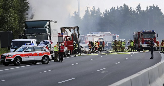 The Latest: All 18 missing in German bus crash are dead