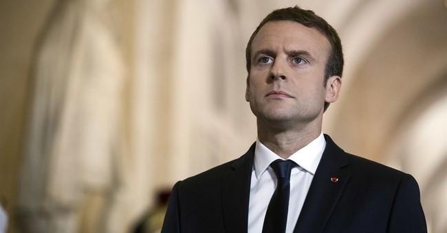 France's Macron visits nuclear submarine, simulates launch