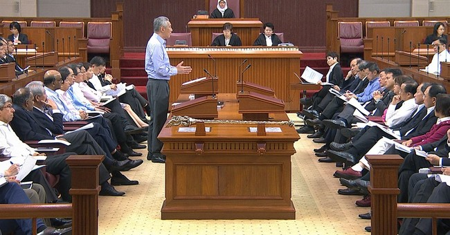 Singapore PM says in Parliament his family feud is baseless