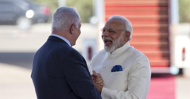 India's leader kicks off historic visit to Israel