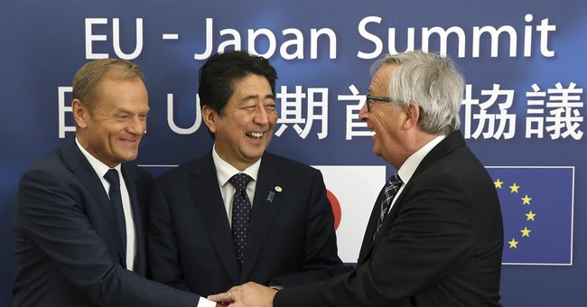 "EU, Japan hail free trade deal: ""A message to the world"""