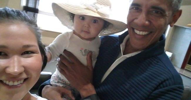 'Oh my God, it is Obama': Alaska mom, baby meet ex-president