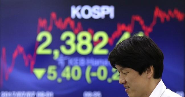 Asian markets lower on economic worries