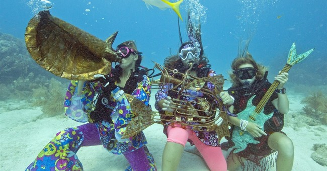 Florida divers, snorkelers submerge for reef music festival