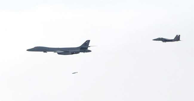 US bombers join jets from Japan, SKorea for training mission
