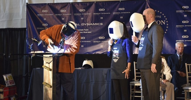 Keel laying marks official construction of attack submarine