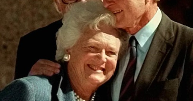 The Latest: Doctor calls the Bushes 'the most humble people'