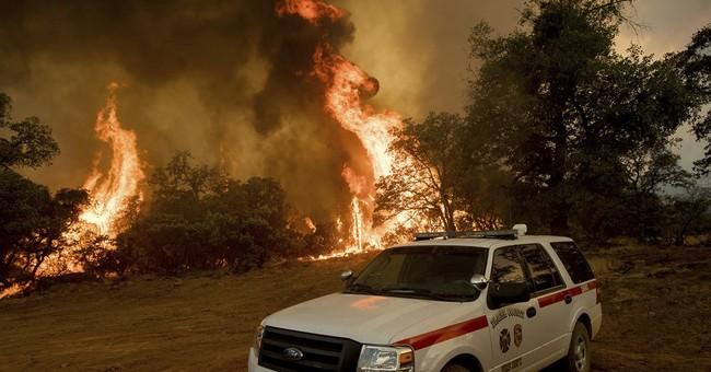 Alamo Fire Burning Toward Tepusquet Canyon