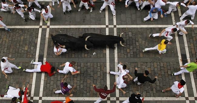 AP PHOTOS: Pamplona's festival, the fiesta of a lifetime
