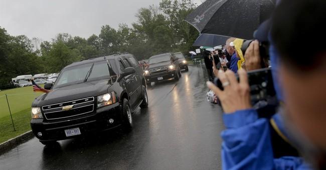 Trump visit a security challenge at women's golf tournament