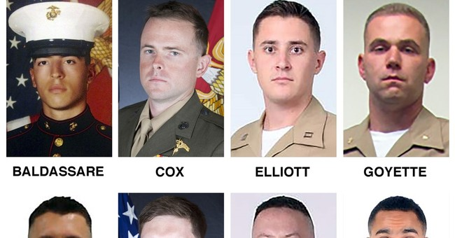 On plane: 15 Marines, 1 Navy sailor mourned by families