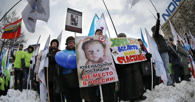 Russia's ban on US adoptions gets snarled in new melodrama