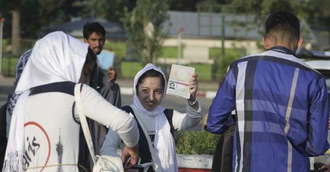 Afghan girls robotics team arrives in US just in time