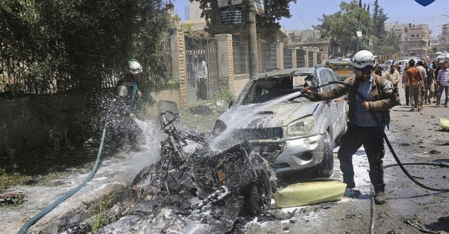 Syria says shells hit Russian embassy compound