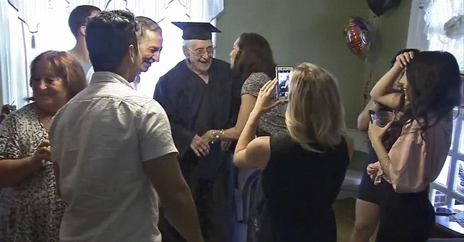 97-year-old World War II vet receives high school diploma