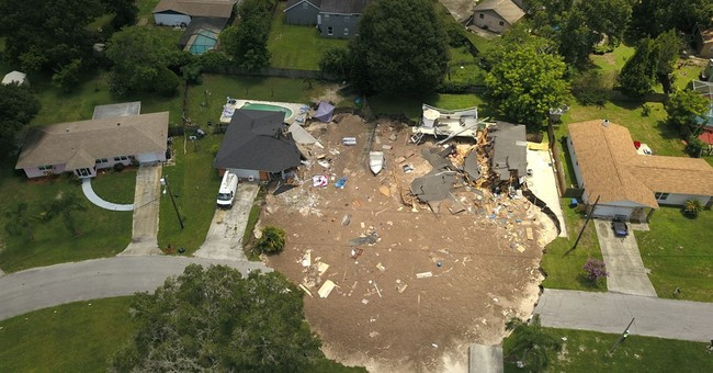 Officials worry about debris in water near Florida sinkhole