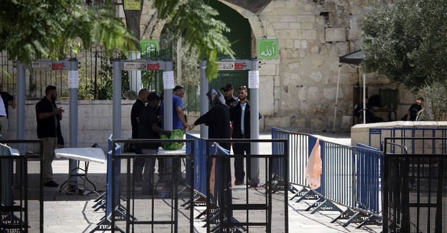 Metal detectors at Jerusalem shrine trigger new tensions