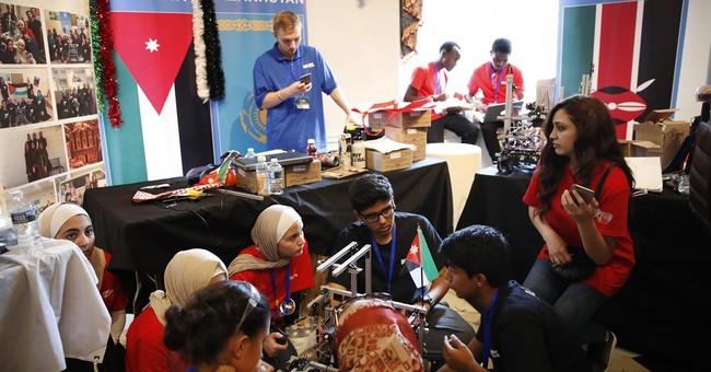 Afghan girls' story was among many at global robotics event