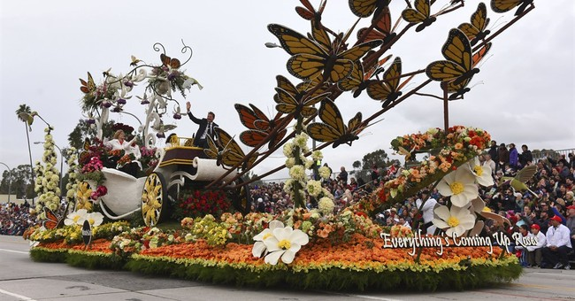 Rose Parade features colorful floats, heavy police security