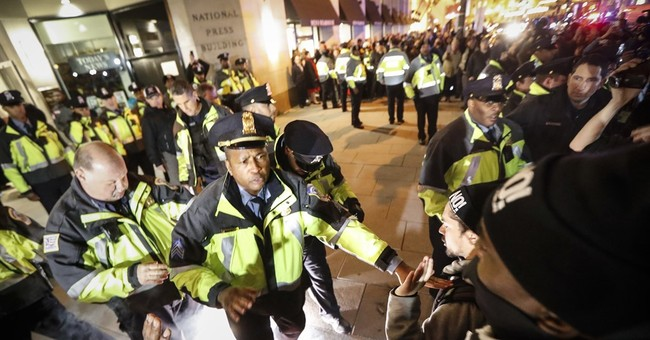 Protesters, Trump supporters clash outside 'DeploraBall'