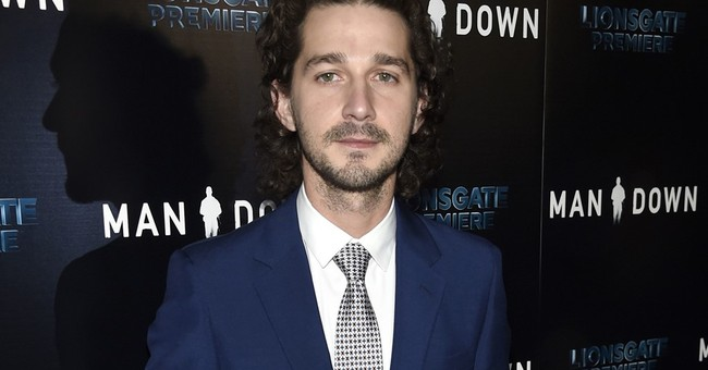 LaBeouf leads with 'will not divide us' on Inauguration Day