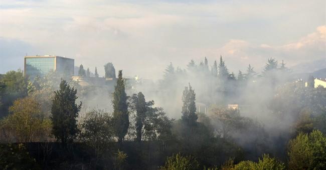 Ukrainian firefighting plane helps with Montenegro wildfires