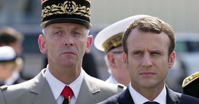 France's Macron visits air force base amid military crisis