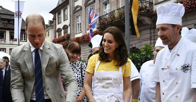 UK royals make pretzels, visit German cancer research center