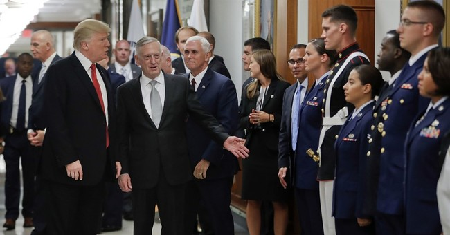 Trump, Mattis: US winning fight against Islamic State group