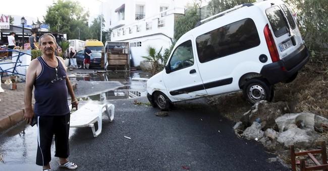 The Latest: 2 dead, 500 hurt as 6.7 quake rocks Aegean Sea