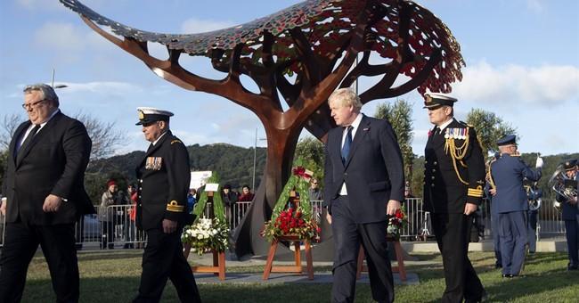 Britain's Boris Johnson jokes about New Zealand greeting