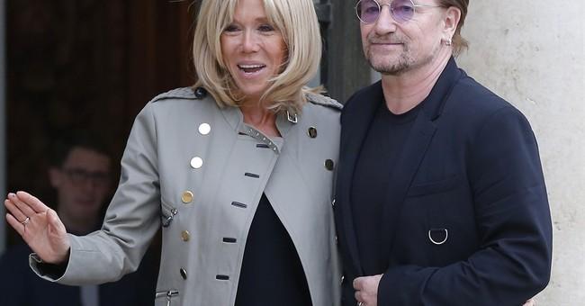 U2's Bono meets French President Macron to discuss poverty