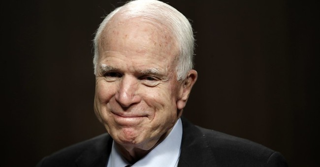 Cheers for McCain, then a speech like impassioned prophet
