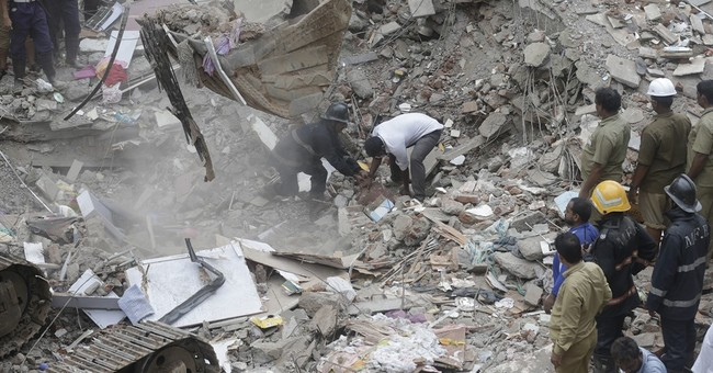 5-story building collapses in India, killing at least 12