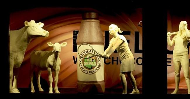Ohio fair butter sculpture features athletes, chocolate milk