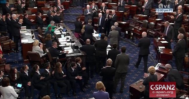McCain delivers a key health care vote, scolding message