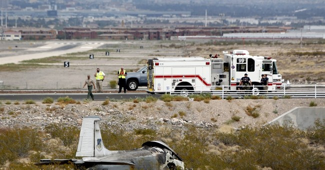 Pilot survives vintage military jet fire near Nevada airport