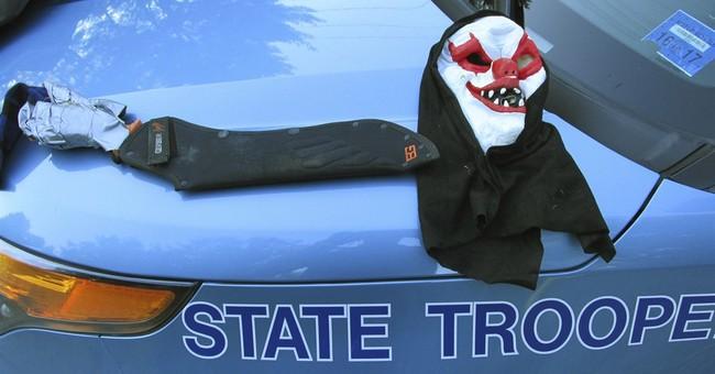 Police: One-armed, machete-wielding clown arrested