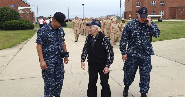 96-year-old vet gets his wish of visiting US Navy station