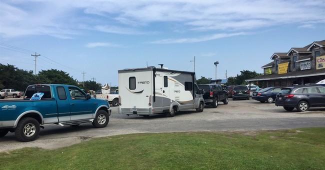 The Latest: Hatteras Island gets mandatory evacuation order