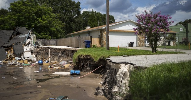 Renters may recover sinkhole items by sifting through mess