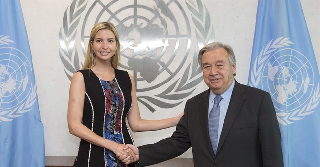 Ivanka Trumps has private lunch with UN chief Guterres