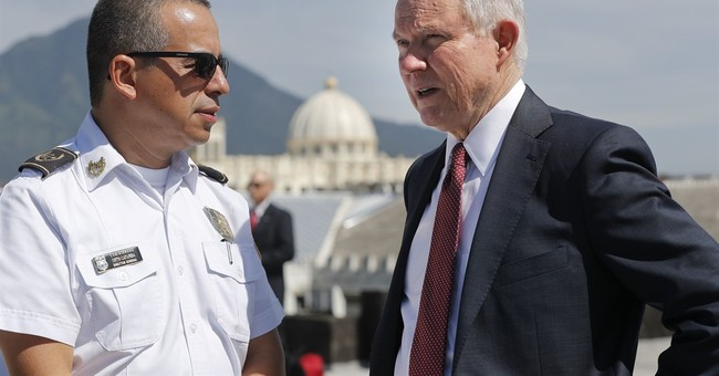 Sessions and Trump talk need to fight transnational gang