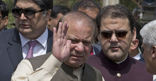 The Latest: Pakistan's Sharif says disappointed by ouster