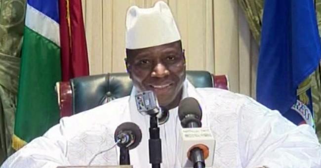 Who is departing Gambian ruler Yahya Jammeh?