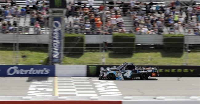 Bell wins Truck Series race at Pocono; Kyle Busch wrecks