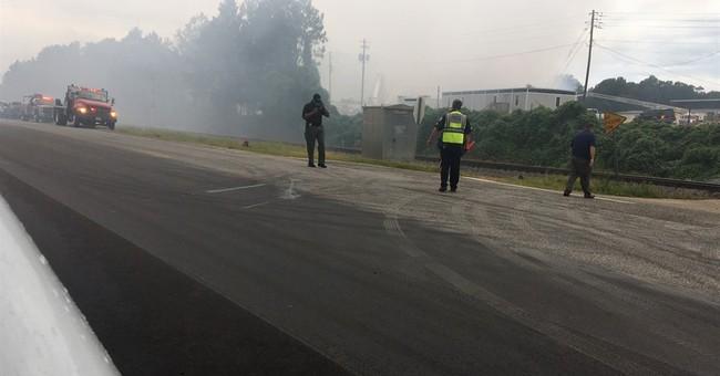 Firefighters battle blaze at Alabama chemical plant