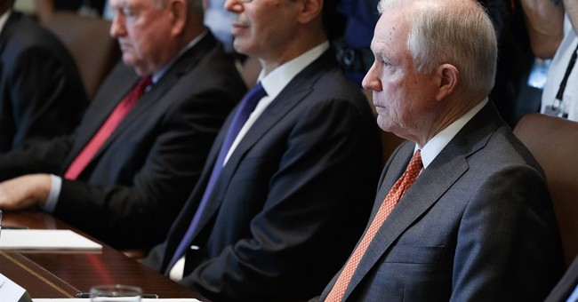 The Latest: Democrats criticize Sessions' plan on addiction